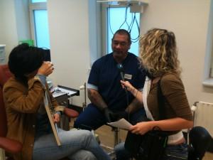 Een van de vele interviews over ons werk